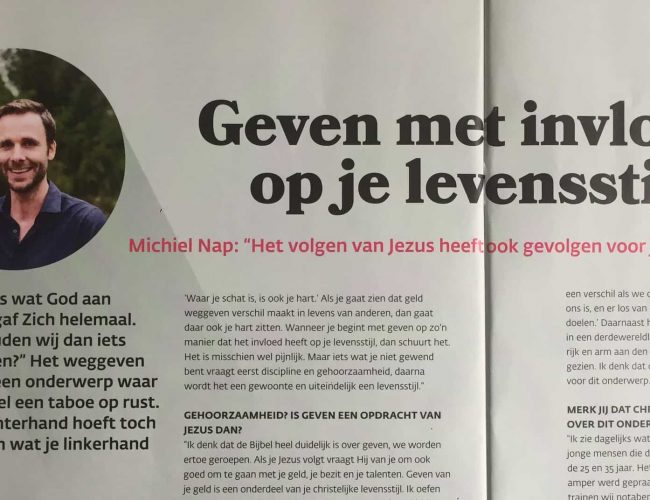Artikel in Wycliffe magazine - april 2019